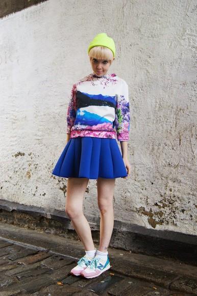 blogger print stella's wardrobe skater skirt jumper
