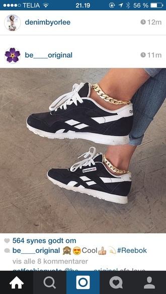 shoes reebok black shoes white shoes jewels