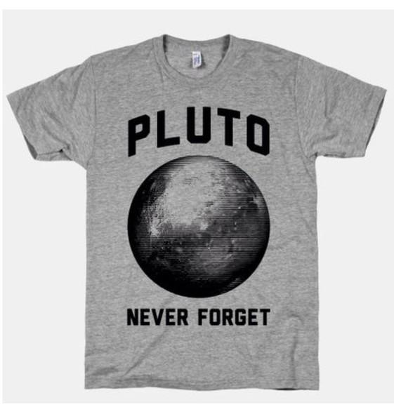 t-shirt grey t-shirt pluto never forget pluto shirt pluto