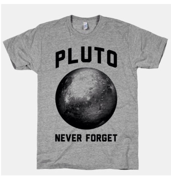 t-shirt pluto never forget pluto shirt pluto grey t-shirt science