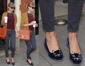 shoes,kitten heels,cats,flats,velvet,indie,hipster,charlotte olympia,lemongrass,polka dots,ballet flats,polka dots capri pants,velvet shoes