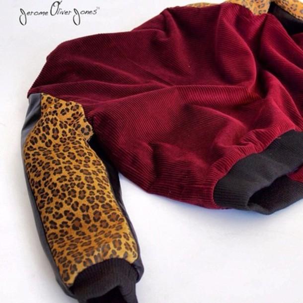 jacket corduroy leopard print oliver jones