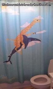 home accessory,bathroom,curtain,shower curtain,funny