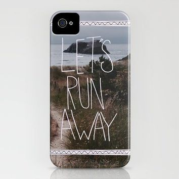 Let's Run Away V iPhone Case by Leah Flores | Society6 on Wanelo