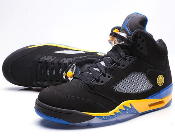shoes nike sneakers sneakers jordans shanghi jordans blue yellow black air jordan