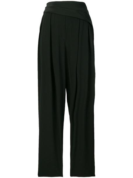 3.1 Phillip Lim high women black silk pants