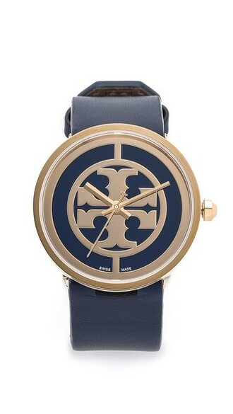 watch gold navy jewels