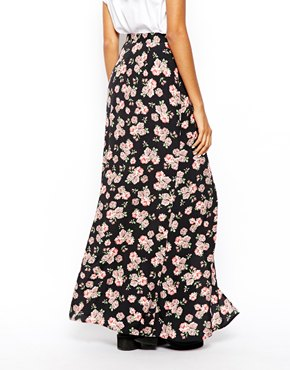 ASOS | ASOS Maxi Skirt In Floral Print at ASOS