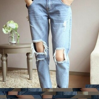 jeans blue jeans mom jeans ripped jeans baggy pants high waisted jeans