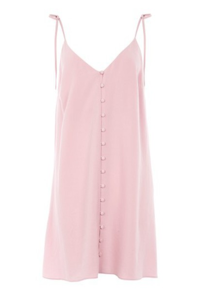 Topshop dress slip dress mini blush