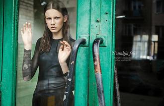 editorial model dress little black dress