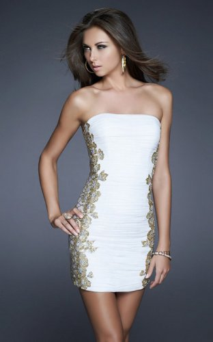 White Gold Tuck-Sculpted Short Prom Dresseses 2013 [White Gold Tuck-Sculpted dress] - $153.00 : Prom Dresses On Sale, 60% off Dresses for Prom Night 2013