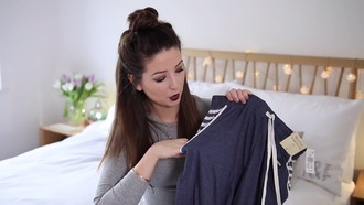 pants zoella pajama pants blue pants stripes