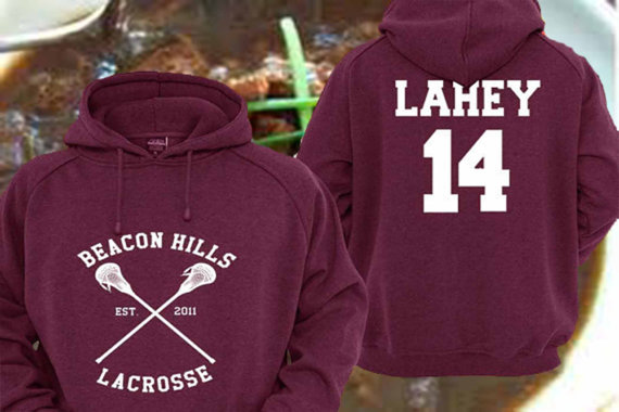 bc2d9d175d Personalized back Teen Wolf lahey 14 Maroon Pullover Sweater ...