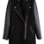 ROMWE | Zippered Black Panel Woolen Coat, The Latest Street Fashion