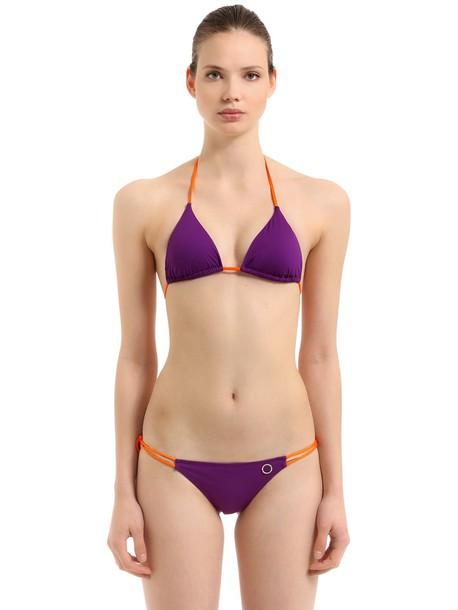 ALESSANDRO DI MARCO Double String Triangle Bikini in purple