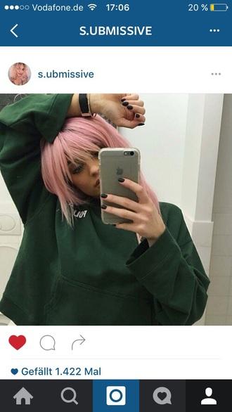 sweater green sweatshirt nike nice kylie jenner