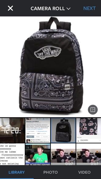 bag black black and white aztec