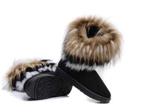 shoes boots fur winter outfits