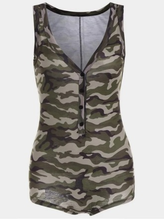 romper girly one piece camouflage