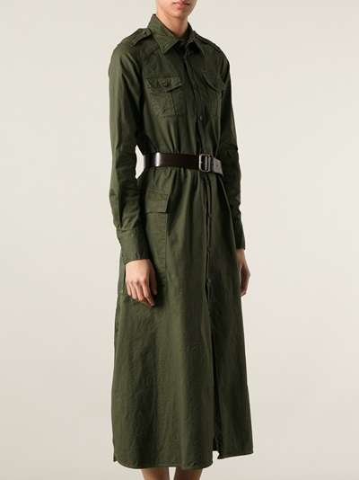 Dsquared2 Military Shirt Dress - Loschi - Farfetch.com