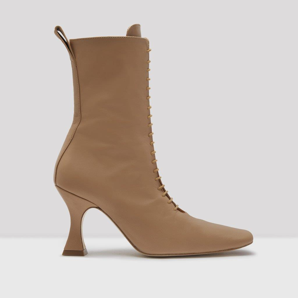 Yana Camel Leather Boots