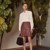 skirt,brown skirt