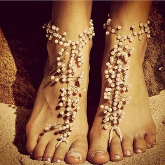 shoes pearl so cute!!! sandals pearl sandals jewels beach wedding shoes sea creatures