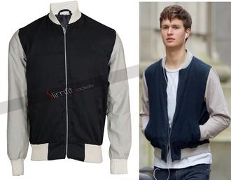 jacket ansel elgort baby driver varsity jacket mens jacket designer mens leather jackets