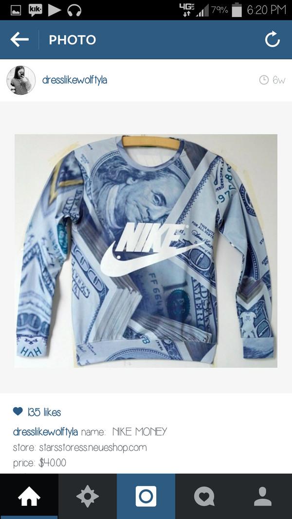 nike money sweater sweater nike