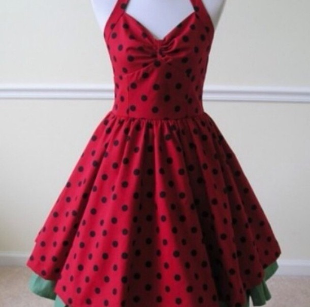 a2bf4510b50 dress red black polka dots