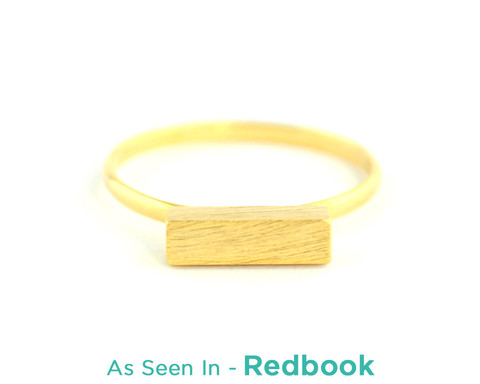 Wanderlust   Co - Box Gold Ring