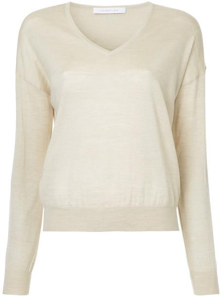 Estnation sweatshirt women nude wool sweater