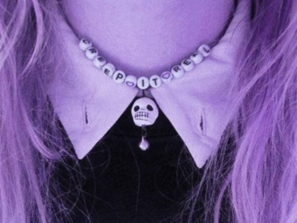 jewels creep it real necklace creep skull pastel goth