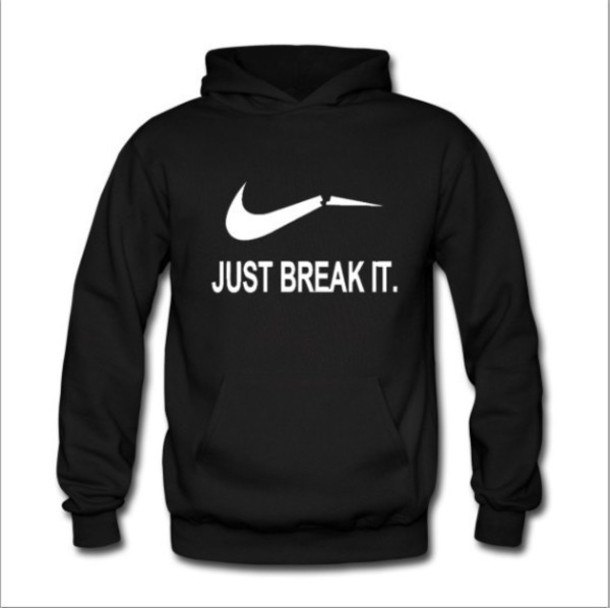 sweater, black, black hoodie, nike sweatshirt, black and ...