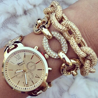 jewels gold watch watch