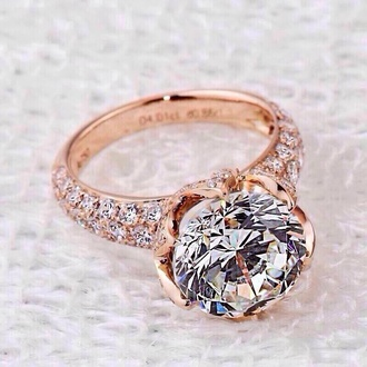 jewels rose gold diamonds