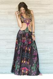 dress,skirt,maxi skirt,boho,boho chic,hippie,hippie chic,floral,maxi,long maxi skirt,monokini,paradizia