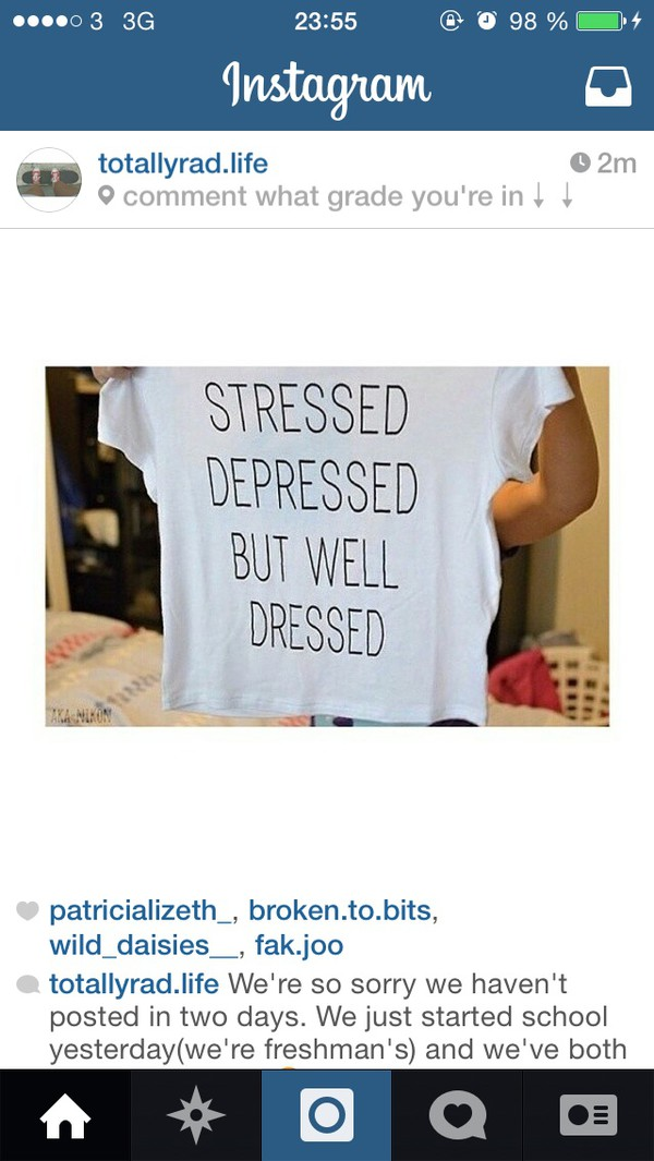 t-shirt white quote on it grunge soft grunge deppressed depression