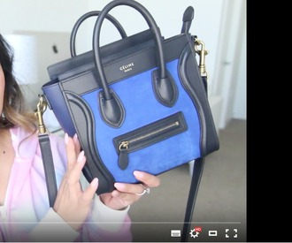 bag nano blue celine bag celine