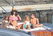 swimwear,kourtney kardashian,sunglasses,hat,bikini,bikini top,bikini bottoms,summer,summer outfits,summer holidays
