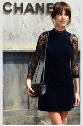 alexa chung blue dress fashion dress