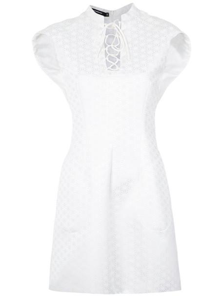 Reinaldo Lourenço dress women lace white cotton