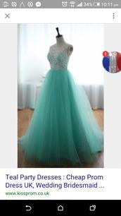 dress,teal prom dresses