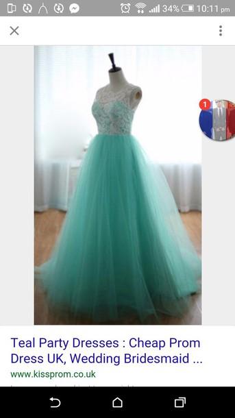 dress teal prom dresses