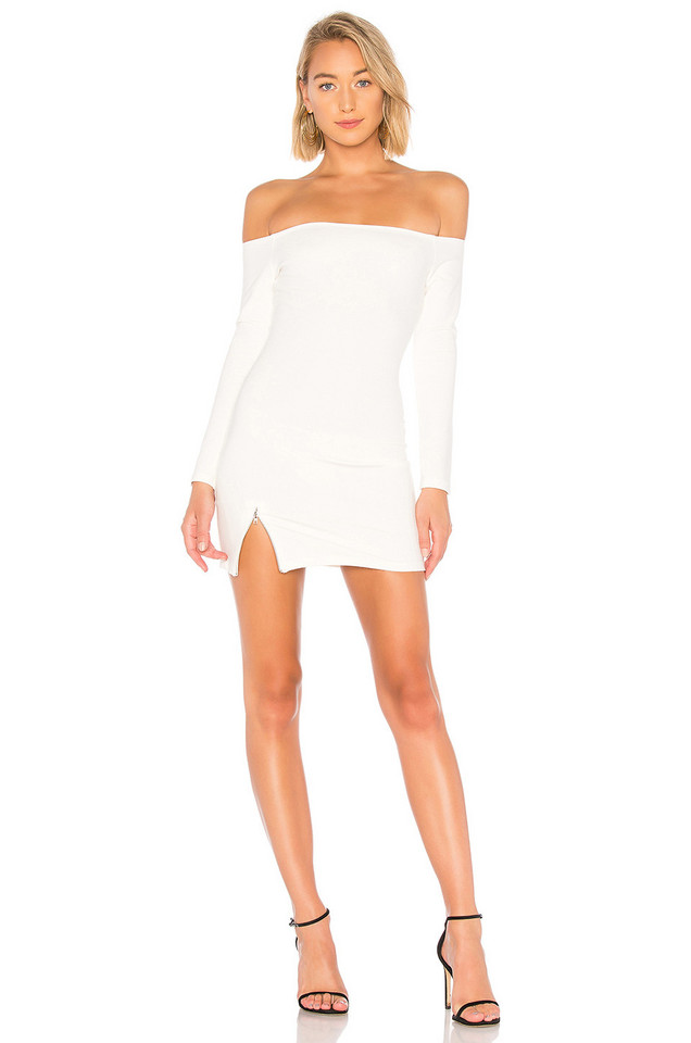 About Us Cindy Off Shoulder Dress in white