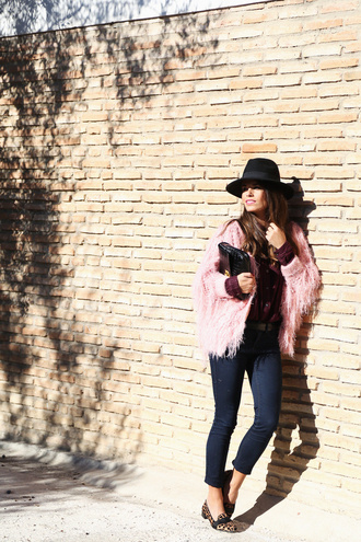 seams for a desire blogger jeans hat pink coat cropped pants pouch loafers cardigan shirt jewels bag