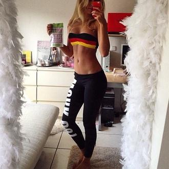 top crop tops sports bra leggings black leggings gym leggings