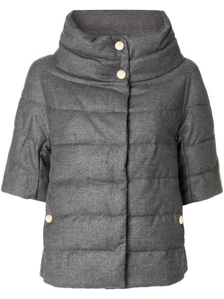 jacket women spandex wool grey