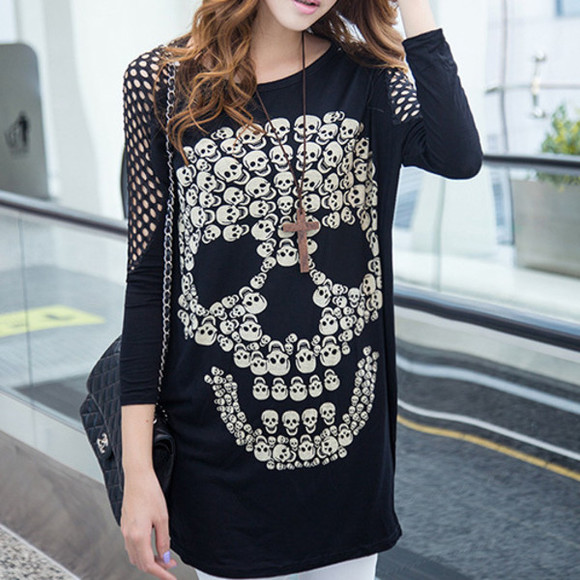 clothes t-shirt skull
